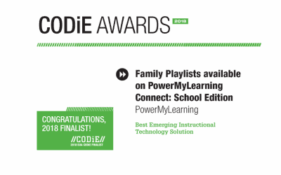 PowerMyLearning's Family Playlists Named SIIA Education Technology CODiE Award Finalist
