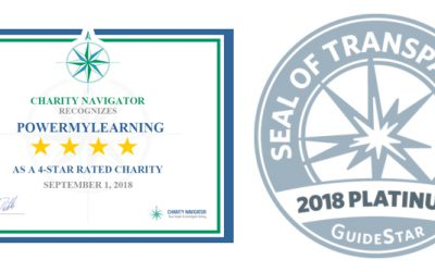PowerMyLearning Earns Coveted 4-Star Rating from Charity Navigator for 11 Years Running and Earns 2018 Platinum Seal of Transparency from GuideStar